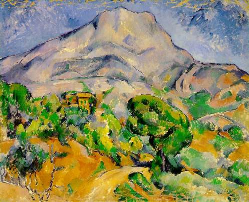 Mont Sainte-Victoire Above the Route du Tholonet, c. 1900, oil on canvas