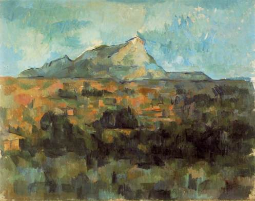 Mont Sainte-Victoire vu des Lauves, 1904-06, oil on canvas