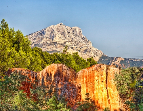 """Mont Sainte-Victoire as """"seen"""" from the Bibemus Quarries"""