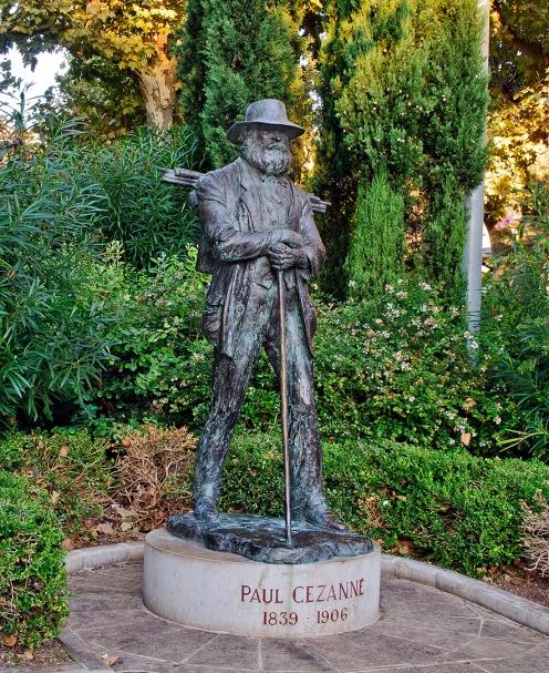Statue of Cézanne at La Rotonde, Aix-en-Provence