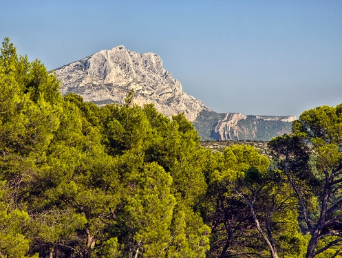 View of Mont Sainte-Victoire from the Bibemus Quarries