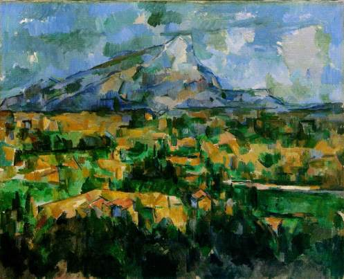 Mont Sainte-Victoire, 19__, oil on canvas