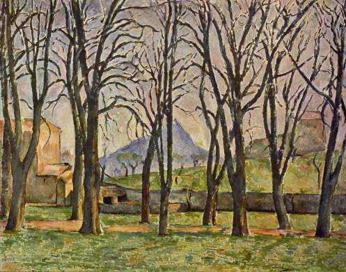 Chestnut Trees at the Jas de Bouffan, 1885-87, oil on canvas