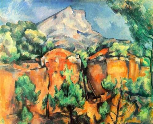 Mont Sainte-Victoire Seen from the Bibémus Quarries, c. 1897, oil on canvas