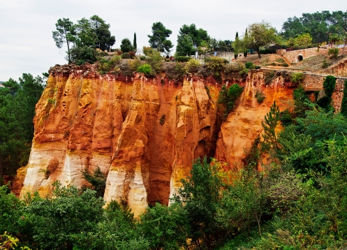 Ochre Cliff in Roussillon