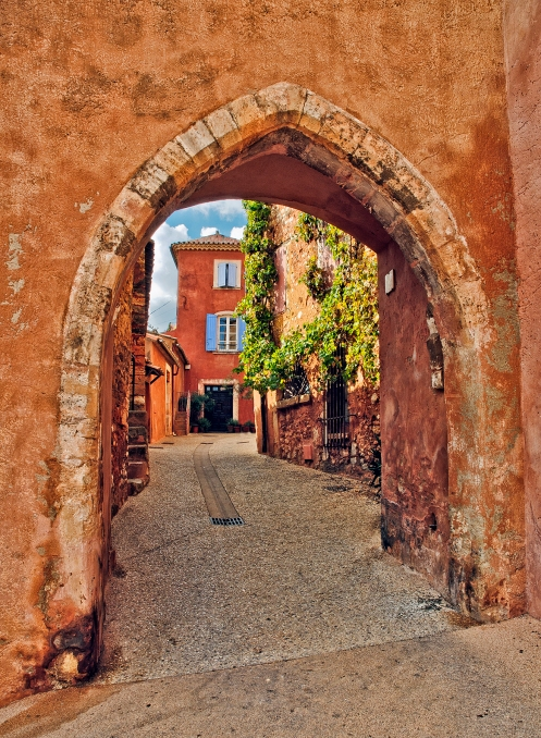 View Through Archway in the Clock Tower