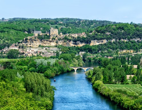 View of the Dordogne from the Château de Castelnaud