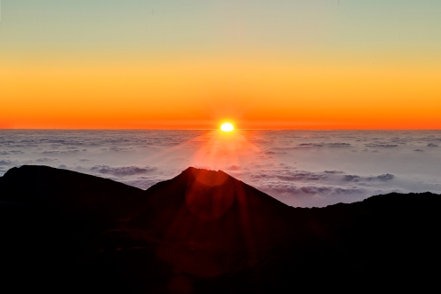 At Sunrise on Mt. Haleakala