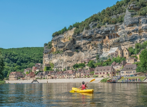 Kayaking on the Dordogne